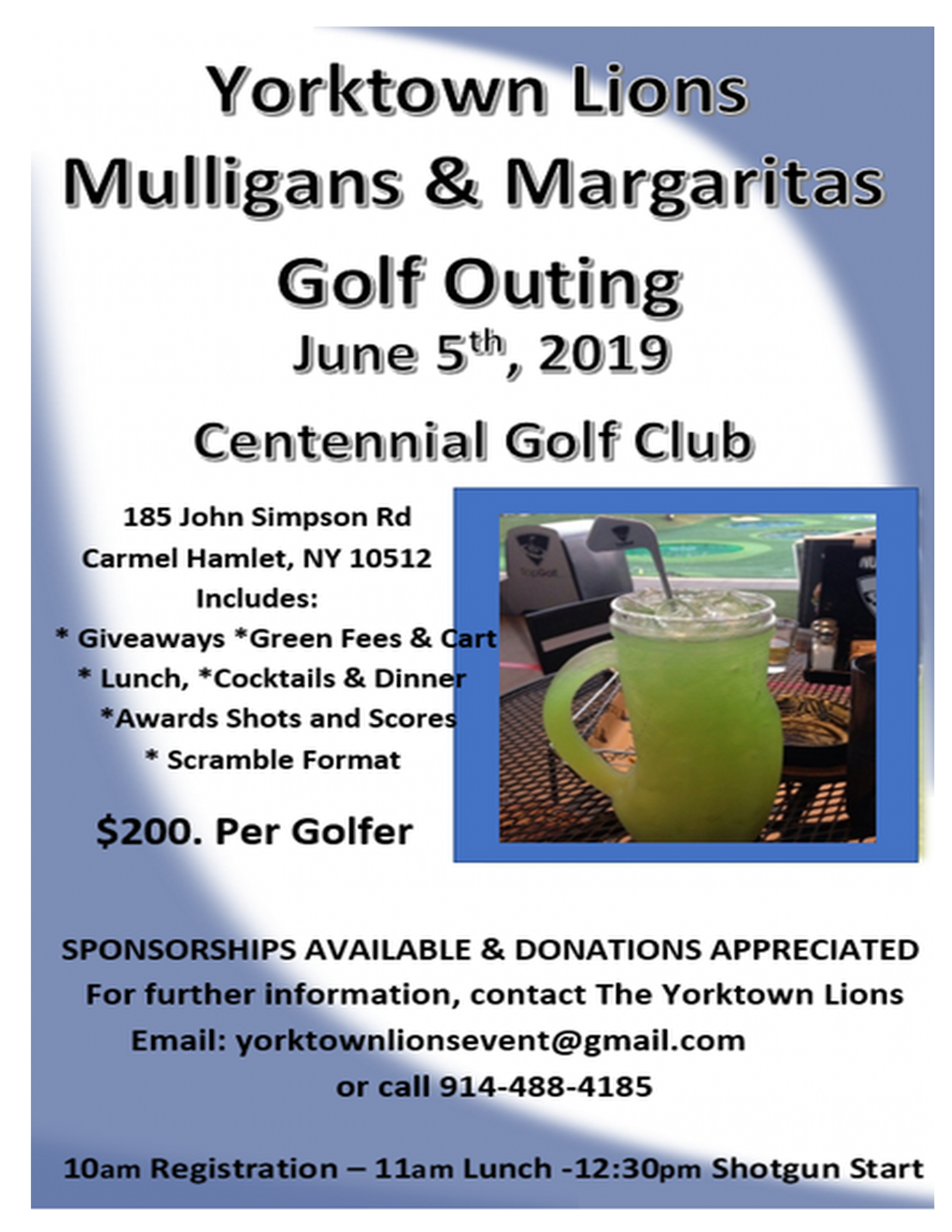 GOLF OUTING BROCHURE PAGE 1