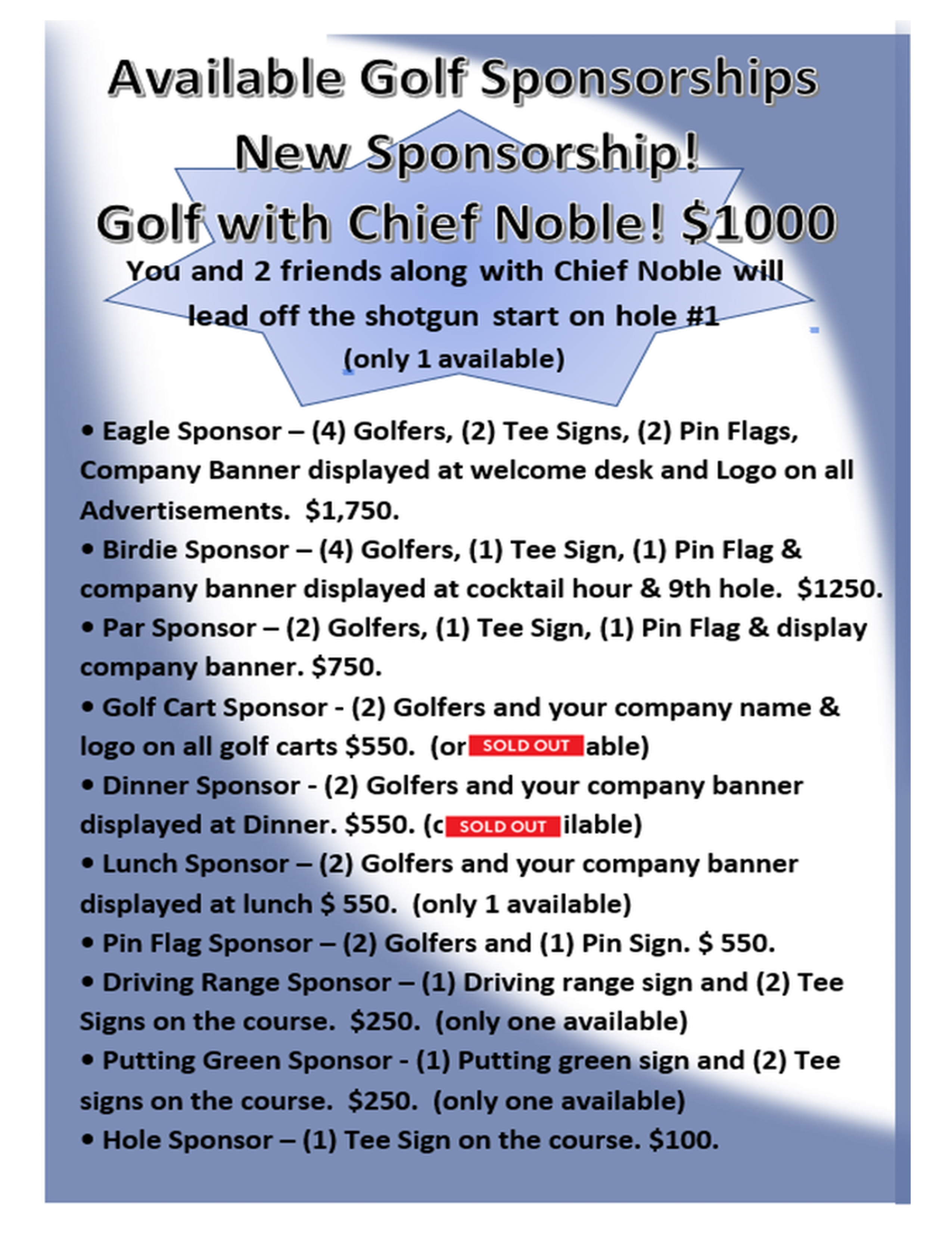 GOLF OUTING BROCHURE PAGE 2